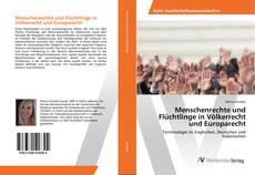 Menschenrechte und Flüchtlinge in Völkerrecht und Europarecht kitap kapağı