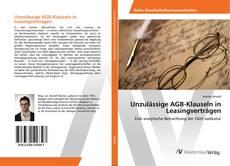 Bookcover of Unzulässige AGB-Klauseln in Leasingverträgen