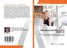 Buchcover von Managing liquidity under BASEL III