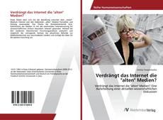 """Buchcover von Verdrängt das Internet die """"alten"""" Medien?"""