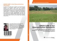 Buchcover von GREEN CARE in den Österreichischen Naturparks