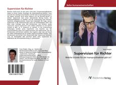 Bookcover of Supervision für Richter