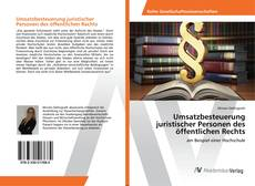 Buchcover von Umsatzbesteuerung juristischer Personen des öffentlichen Rechts