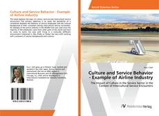 Bookcover of Culture and Service Behavior - Example of Airline Industry
