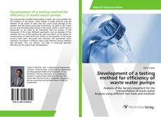 Couverture de Development of a testing method for efficiency of waste water pumps