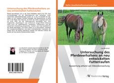 Обложка Untersuchung des Pferdeverhaltens an neu entwickelten Futterraufen