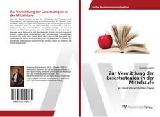 Buchcover von Zur Vermittlung der Lesestrategien in der Mittelstufe
