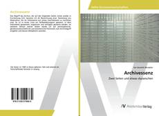 Capa do livro de Archivessenz