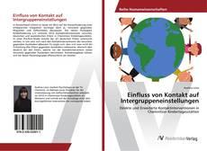 Buchcover von Einfluss von Kontakt auf Intergruppeneinstellungen