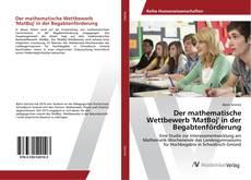 Couverture de Der mathematische Wettbewerb 'MatBoj' in der Begabtenförderung