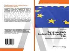 Portada del libro de Das klimapolitische Leadership der Europäischen Union