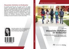 Buchcover von Dissoziales Verhalten im Kindesalter