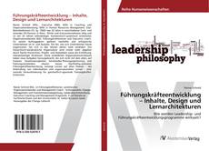 Buchcover von Führungskräfteentwicklung – Inhalte, Design und Lernarchitekturen