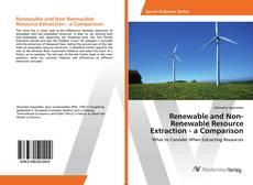 Capa do livro de Renewable and Non-Renewable Resource Extraction - a Comparison