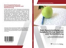 Обложка Zum Zusammenhang von handschriftlicher Qualität und Rechenleistung
