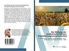 Buchcover von Der Bildung der landwirtschaftlichen Produktionsgenossenschaften
