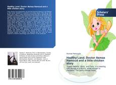 Capa do livro de Healthy Land. Doctor Asmaa Hamoud and a little chicken story