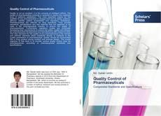Quality Control of Pharmaceuticals kitap kapağı