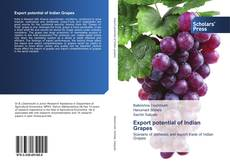 Bookcover of Export potential of Indian Grapes