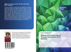 Capa do livro de Effects of Constructivist Theatre Instruction (CTI) - Results