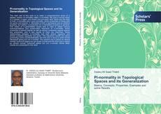 Portada del libro de Pi-normality in Topological Spaces and its Generalization