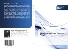 Buchcover von A Brief Discussion on Fairness Analysis