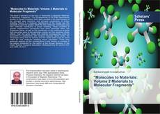 "Portada del libro de ""Molecules to Materials: Volume 2 Materials to Molecular Fragments"""