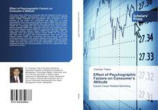 Bookcover of Effect of Psychographic Factors on Consumer's Attitude