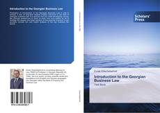 Bookcover of Introduction to the Georgian Business Law