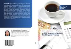 Couverture de A CGE Analysis of Money, Banking and Finance