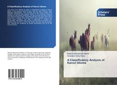 Bookcover of A Classificatory Analysis of Kanuri Idioms