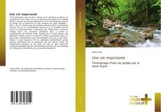 Bookcover of Une vie importante
