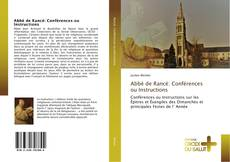 Copertina di Abbé de Rancé: Conférences ou Instructions