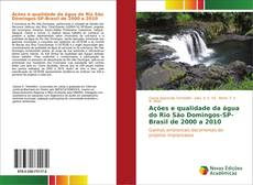 Capa do livro de Ações e qualidade da água do Rio São Domingos-SP-Brasil de 2000 a 2010