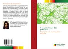 Capa do livro de A caracterização das parafasias