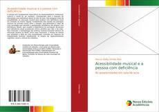 Capa do livro de Acessibilidade musical e a pessoa com deficiência