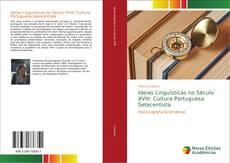 Capa do livro de Ideias Linguísticas no Século XVIII: Cultura Portuguesa Setecentista