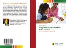 Capa do livro de Formação continuada de professores: