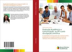 Capa do livro de Produção Acadêmica e Comunicação: as PP's para divulgação científica