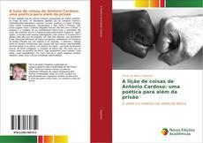 Capa do livro de A lição de coisas de António Cardoso: uma poética para além da prisão