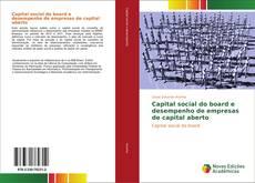 Bookcover of Capital social do board e desempenho de empresas de capital aberto
