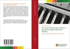 Buchcover von Os usos políticos da mídia e a perda de legitimidade do Estado