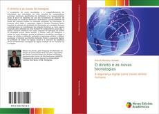 Capa do livro de O direito e as novas tecnologias