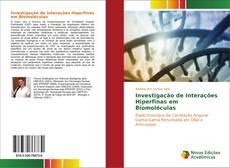 Capa do livro de Investigação de Interações Hiperfinas em Biomoléculas