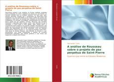 Capa do livro de A análise de Rousseau sobre o projeto de paz perpétua de Saint Pierre