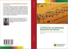 Capa do livro de Certificação de Habilidade Específica em Música