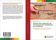 Capa do livro de Análise dos materiais de construção das habitacões do semiárido