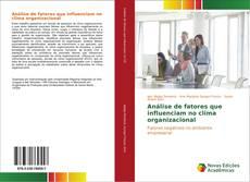 Buchcover von Análise de fatores que influenciam no clima organizacional