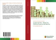 Capa do livro de Custo do Pré - Natal na Politica Publica de Marília