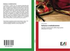 Italiano e melodramma kitap kapağı